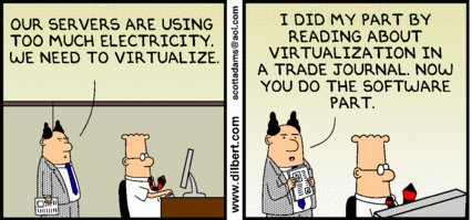 Dilbert's ignorant manager